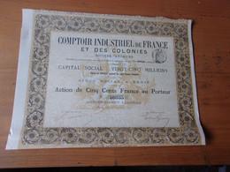 COMPTOIR INDUSTRIEL DE FRANCE ET DES COLONIES  (1881) - Unclassified