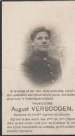 ABL, Augut Verboogen, Pour La Patrie Lier Octobre 1914 ( Helmet ) - Obituary Notices