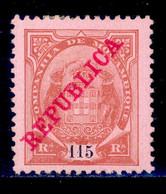 ! ! Mozambique Company - 1911 Elephants Coat Of Arms 115 R - Af. 86 - MH - Mosambik