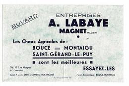Buvard A LABAYE Chaux Agricoles MAGNET Boucé Montaigu St-Gérand Le Puy - Farm