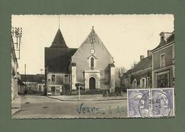 CARTE POSTALE 72 SARTHE VERNEIL LE CHETIF PLACE DE L EGLISE - Other Municipalities