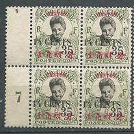 Canton  Yvert N°  76 (*) Neuf Sans Gomme Bloc De 4 Millesime 7  - Pa22001 - Unused Stamps