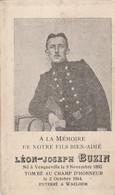 ABL, Léon - Joseph Buzin , Né à Vesqueville Le 9 Novembre 1893 Tombé Au Champ D'honneur Le 2 Octobre 1914 - Obituary Notices