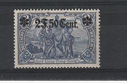 1916/1917 Timbre D'Etapes Allemand Surchargé En Franc N° 37* - Kriegsausgaben