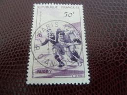 Rugby - Série Sportive - 50f. - Lilas Et Violet - Oblitéré - Année 1956 - - Usati