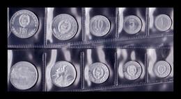 Corea Del Norte Set 5 Monedas 1 5 10 50 100 Won 1959 -1987 SC UNC - Korea, North