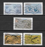 France 2021  Oblitéré Autoadhésif    Empreintes D'animaux  ( 5 Différents ) - Adhesive Stamps