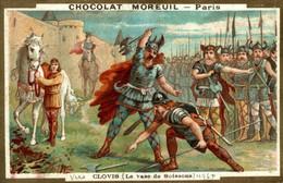 CHROMO CHOCOLAT MOREUIL CLOVIS LE VASE DE SOISSONS - Andere