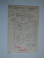 Porcelaine,verrerie,articles De Ménage A. GORCE Anc Melin-Seguin à St Pourçain Sur Sioule - 1900 – 1949