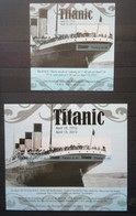 Tuvalu 2012. Titanic. MS + SS. MNH - Barche