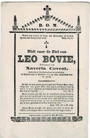 KRUISHOUTEM / HUISE - Leo BOVIE - Echtg. Xaveria COVENT - Overleden 1866 - Images Religieuses