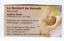 Carte De Visite °_ Carton-Relaxologie-Le Nombril De Ganesh-Ayuverda - Cartoncini Da Visita