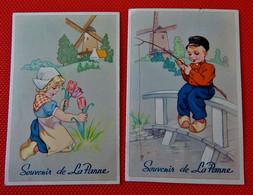 "DE PANNE  -  LA PANNE   -  Lot Van 3 Postkaarten : "" Souvenir De La Panne "" - De Panne"
