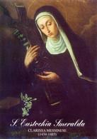 Messina - Santa EUSTOCHIA SMERALDA, Clarissa Messinese (1434-1485) - OTTIMO D26C - Religione & Esoterismo