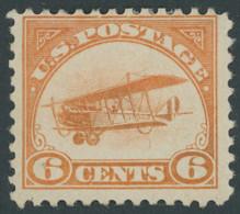 USA 248 *, Scott C 1, 1918, 6 C. Postfluglinie New York - Washington, Falzrest, Pracht, $ 60 - Unused Stamps