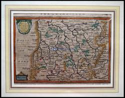 ALTE LANDKARTEN - ELSASS- (13x20) , Lothringen, Lotharingia Meridionalis, Kolorierter Kupferstich Von Janssonius Um 1630 - Non Classificati