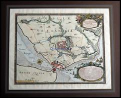 Kopenhagen, Grundrißplan Der Stadt Und Umliegende Gegend - Sehr Dekorative Ansicht, Anno 1658, Kolorierter Kupferstich V - Non Classificati