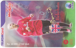 INDONESIA A-762 Prepaid - Sport, Soccer, David Beckham - Used - Indonesia