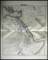 Der Nordöstliche Teil, Grenzkolorierter Stahlstich Aus Meyers Hand-Atlas, 1875 - Non Classificati