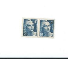 725 B Chevelure Blanche Tenant à Normal Paire Horizontale - Kuriositäten: 1931-40 Ungebraucht