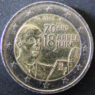 France - 2010 - 2 Euro (De Gaulle's Radio Speech On June 18th - 1940) - Vz - Look Scans - France