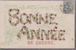 CP  -  BONNE ANNEE  DE QUENNE - Neujahr