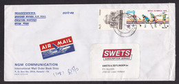 Pakistan: Airmail Cover To Netherlands, 2 Stamps, Olympics, Athletics, Mosque, Building, Air Label (minor Creases) - Pakistan