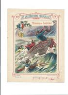 Medaille De Sauvetage Décorations Françaises Protège-cahier Couverture 220 X 175 Bien 3 Scans - Book Covers