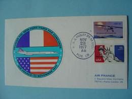 Concorde -- Pli Du 1er Vol New-York -- Paris Par Concorde Air France Du 23 Novembre 1977 - Otros