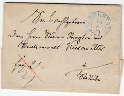 Thurn & Taxis - Rudolstadt (ca. 1855), Blauer K2 A. Francobrief N. Stadtilm - Thurn En Taxis