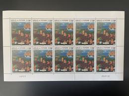 Wallis Et Futuna 2011 YT N°762 Paysage Fai Kona Landscape Planche Feuille Entière Full Sheet Bogen MNH** - Unused Stamps