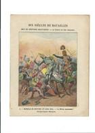 Bataille De Bouvine Philippe Auguste Dix Siècles De Batailles  Protège-cahier Couverture 220 X 175 TB 3 Scans - Book Covers
