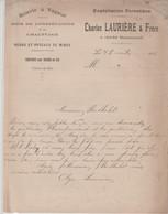 ISSAC: Charles LAURIERE, Exploitation Forestière, Scierie, Poteaux De Mines / Fact De 1916 - Artesanos