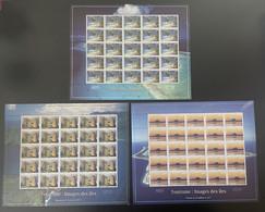 Polynésie 2011 YT N°957 - 959 Tourisme Tourism Images De îles Paysages Landscapes Planche Sheet Bogen - Ungebraucht