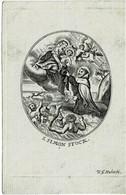 S. SIMON STOCK Oude Kopergravure / Ancienne Gravure Sur Cuivre /  Old Copperplate  - Grav. HUBERTI  -  8,5 X 13 Cm. - Santini