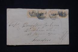 """INDE - Enveloppe Pour Londres En 1871, Affr. Victoria Avec Griffe """" Stampaid """", Cachet De Calcutta Au Verso  - L 96693 - 1858-79 Crown Colony"""