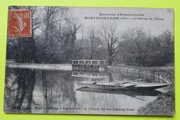 60 / OISE - Environs D'Ermenonville - Mortefontaine - Barrage De L'Etang - Barque - CPA Carte Postale Ancienne - 1918 - Ermenonville