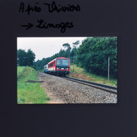 Thiviers (24) X 2200 Diapositive - Trains