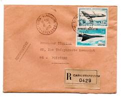 Concorde / Enveloppe Recommandée / De Caen / Pour Poitiers / 10-6-1969 - 1961-....