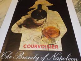 ANCIENNE  PUBLICITE COGNAC COURVOISIER 1962 - Alcools