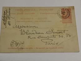 Entier Postaux, Oblitéré, Soy Luxembourg 1901 Envoyé à Paris - AK [1871-09]