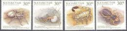 1997. Kazakhstan, Spiders, 4v, Mint/** - Kazakhstan