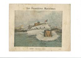 """LORIENT  Lancement Du """"BRENNUS' Et Le Cuirassé """"LA DEVASTATION"""" Protège-cahier Couverture  Bien 3 Scans - Book Covers"""