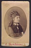 Fotografia CDV Alice MONTOVANI Foto L. Rossi Stradella - Anciennes (Av. 1900)