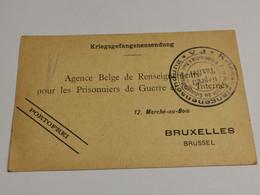 Entier Postaux, Prisonniers De Guerre. Bruxelles. 1915 Marbehan - Kriegsgefangenschaft