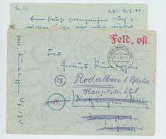 Feldpost (Oberleutnant) Abgestempelt In TUREK (Warteland) Nach Rodalben 20.9.44 Mit Inhalt. - 1939-45
