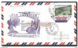 Lettre 1er Vol France Paris Baltimore 19 6 1960 - 1960-.... Storia Postale
