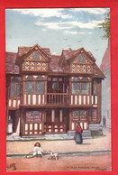 CHESHIRE  PRESTBURY YE OLDE PRIESTS HOUSE RAPHAEL TUCK OLD TIMBERED HOUSES  SERIES Pu 195  SQUARE O POSTMARK - Autres
