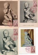 1V3 Cr  Lot De 4 Cartes Maximum L'enfant à La Cage De Pigalle - 1950-59
