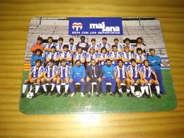 "Calendar Of Pocket  "" Soccer, Futebol - Espanhol De Barcelona  "" Advertising - Formato Piccolo : 1981-90"